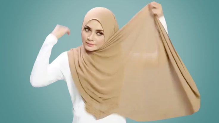 Tutorial hijab pashmina kekinian yg CEPAT dan MUDAH
