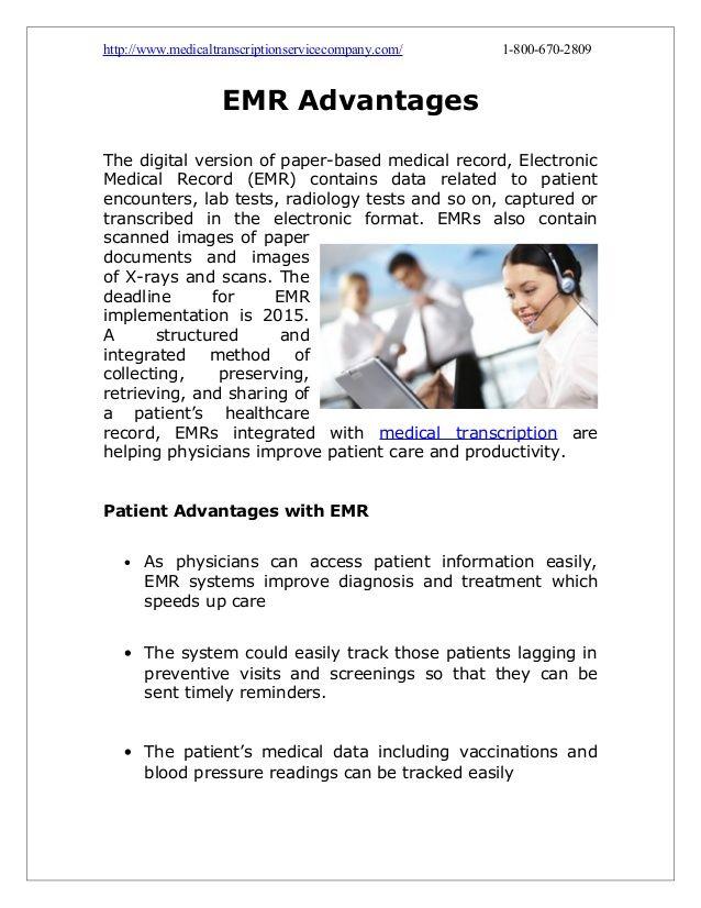 EMR Advantages