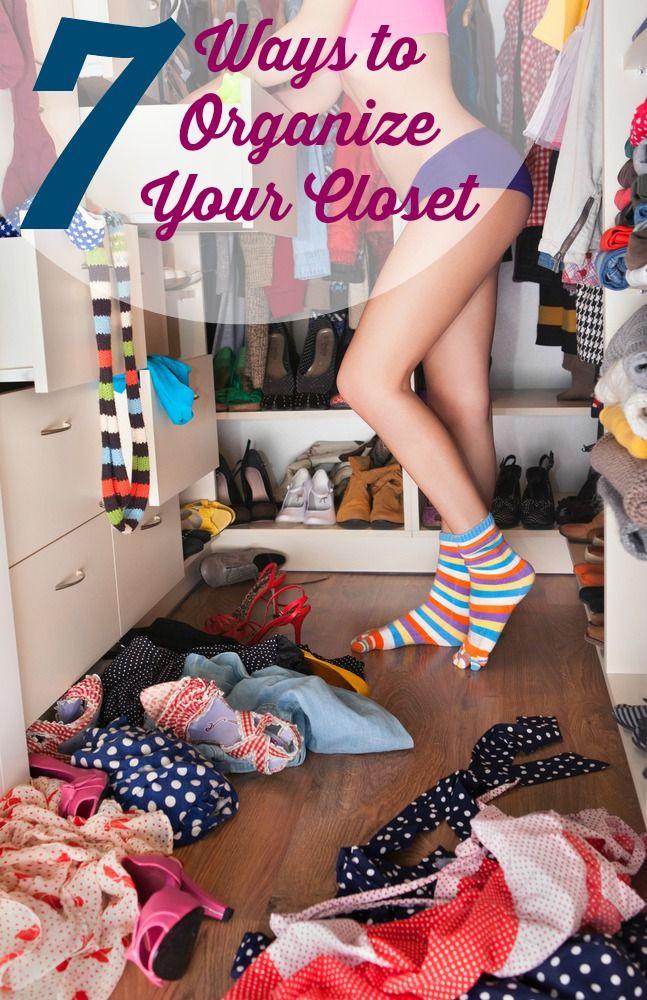 7 Easy Tips to Organize Small Closets http://www.woodard247.com/2014/05/7-brilliant-closet-organization-tips/