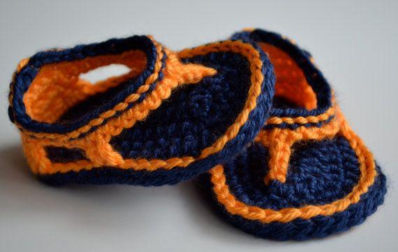 Auburn Baby Shoes Crochet Baby Trekkers Crochet by TheGrapeTurtle, $22.50
