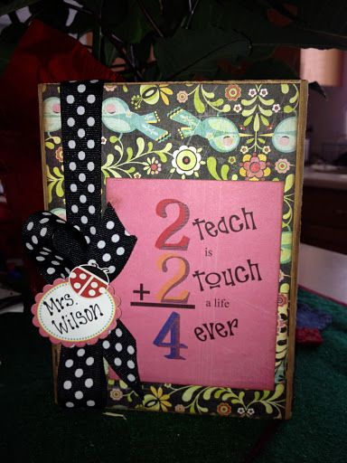 Teacher Gift - but do on front of notepad with stories from kids about how wonderful teacher is