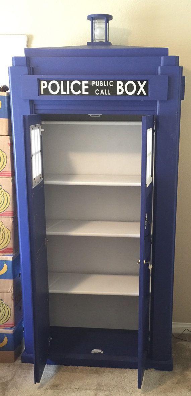 Elegant Dr. Who Tardis Bookshelf 3/4th Scale Shelf By HallowoodDesigns