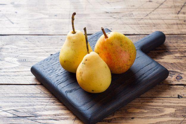 Ripe Yellow Pears Fruit Food Pear
