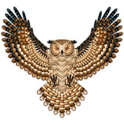 Beadwork Great Horned Owl  Naumaddic Arts!  NaumaddicArts@gmail.com