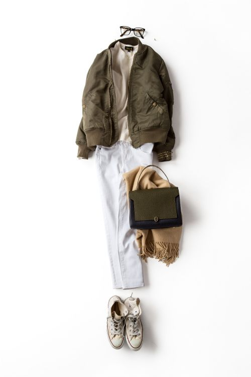 Kyoko Kikuchi's Closet | MA-1×白。組み合わせの妙で色気を出す