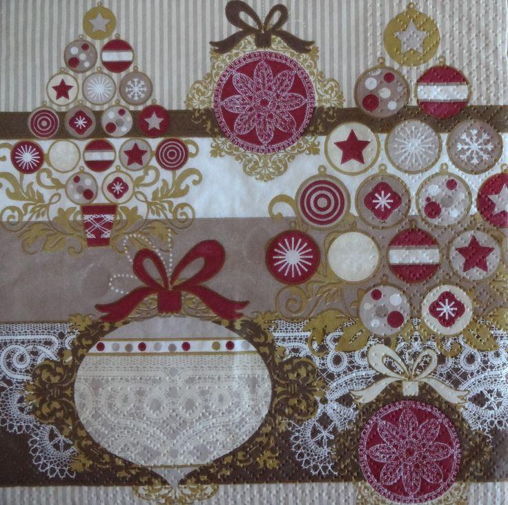 4 Purple Napkins, Christmas Paper Napkins, Decoupage Paper Napkins, Holiday Napkins, Christmas Napkins (PURPLE XMAS)