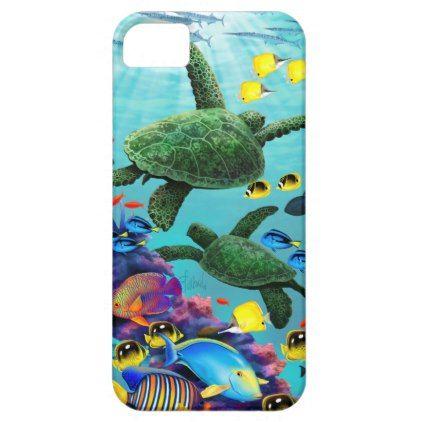 #Molokini Cove Hawaiian Sea Turtle Tropical Fish iPhone SE/5/5s Case - customized designs custom gift ideas