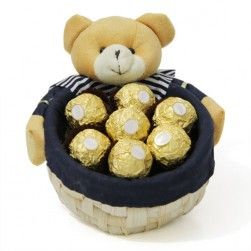 #Gift yummy and delightfull #chocolate basket to your loved ones and bring a sweet smile on their face. Order Now!