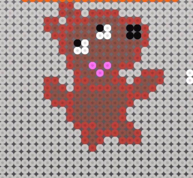 Patrón del cuadro de peppa pig.