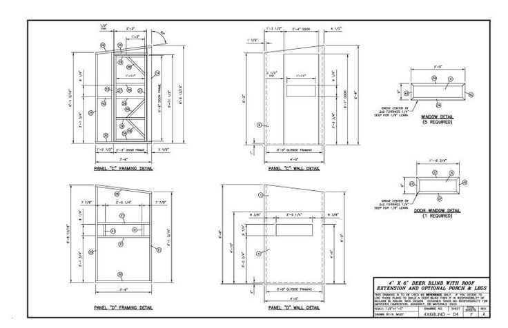 Deer shooting house plans for Elevated home plans