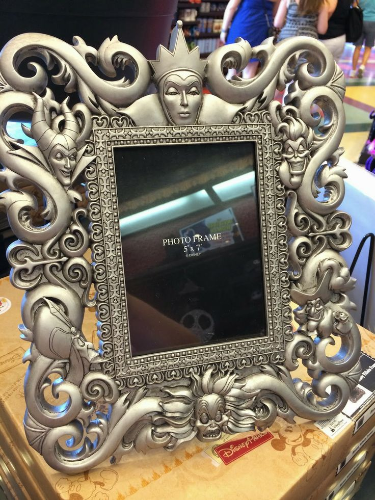 Disney Villains picture frame from Walt Disney World.  Perfect for your Disney home!!