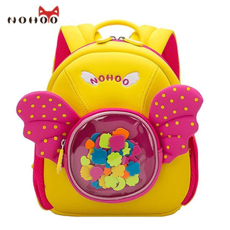 NOHOO Cute Princess School Bag For Girls Waterproof Kids Baby Backpack High Quality Book Mochila Escolar