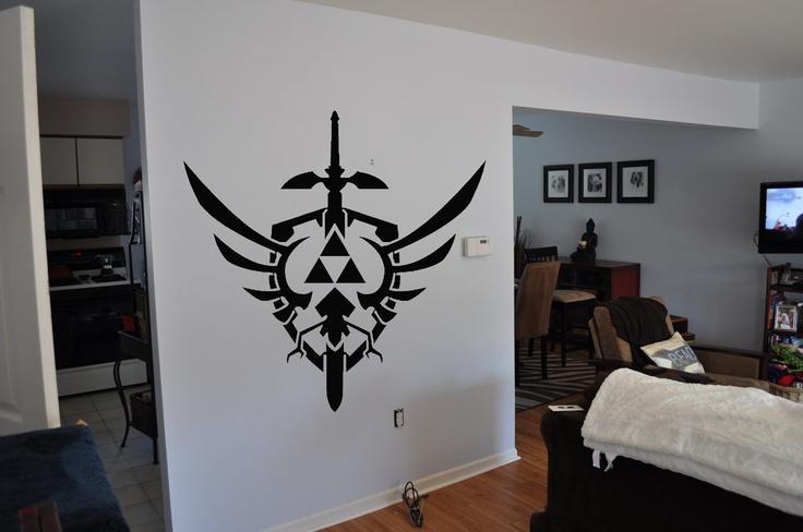 Legend Of Zelda Inspired Master Sword and Shield Wall