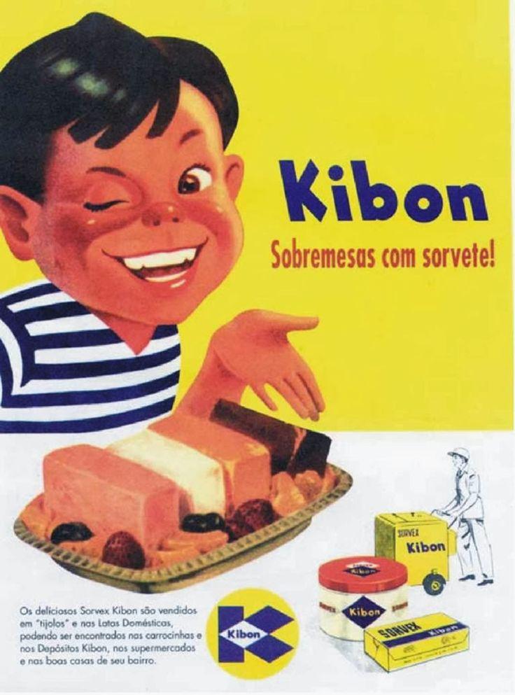 Clássica propaganda dos Sorvetes Kibon nos anos 60.