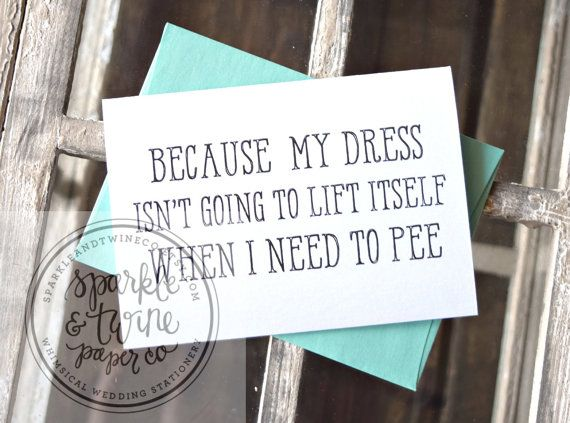 Bridesmaid Proposal Card Funny Will You Be My by SparkleandTwineCo
