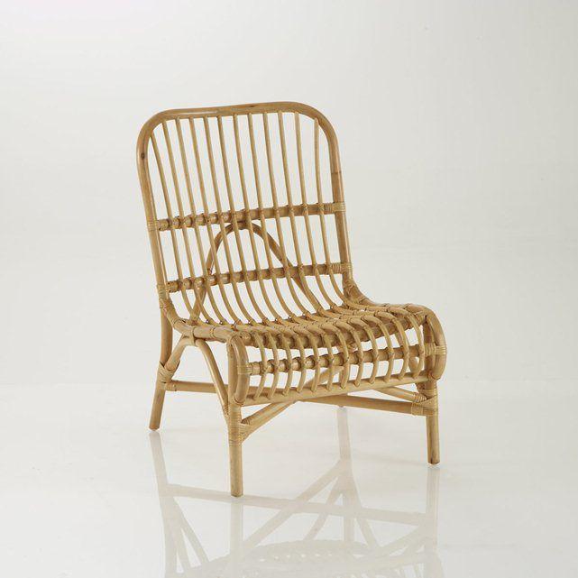 Chaise ou fauteuil d'appoint canne de rotin, Malu La Redoute Interieurs