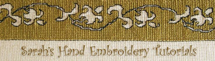 Embroidery Stitch Dictionary & Tutorials