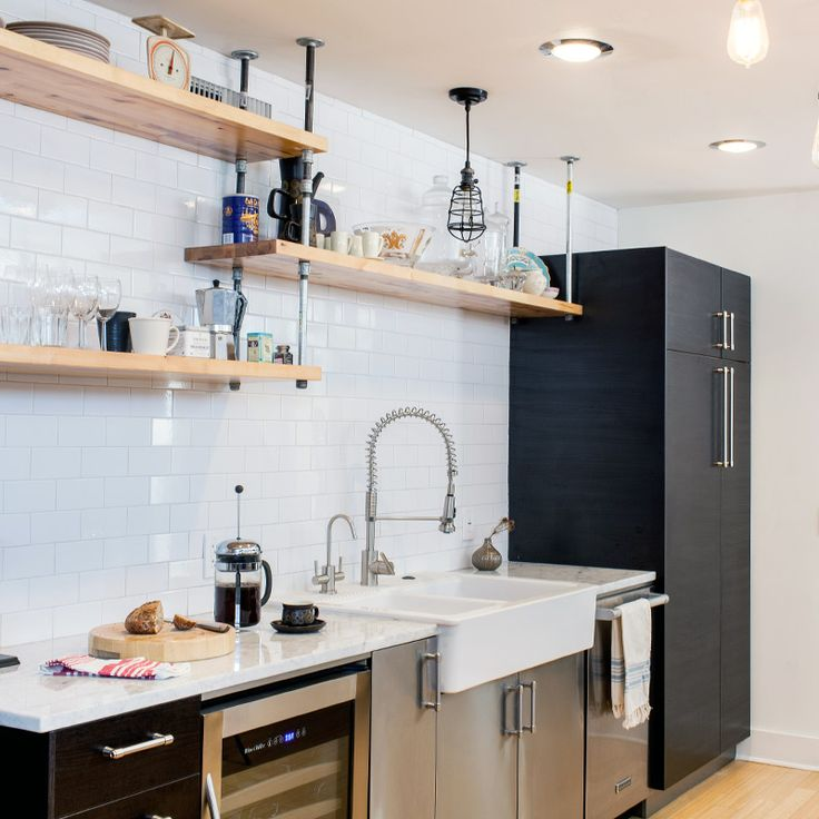 Hanging Open Kitchen Shelves: 190 Best Pipes Images On Pinterest