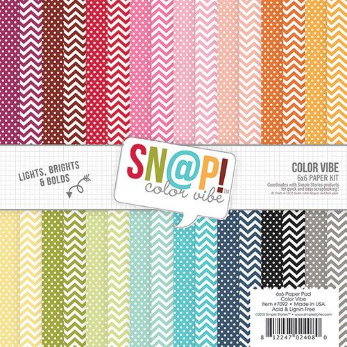 Simple Stories - SNAP Color Vibe Collection - 6 x 6 Pad - Two