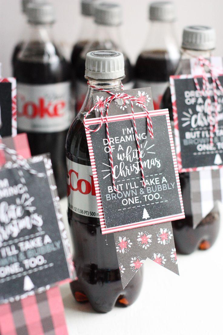 DIY Printable Diet Coke Gift Tags