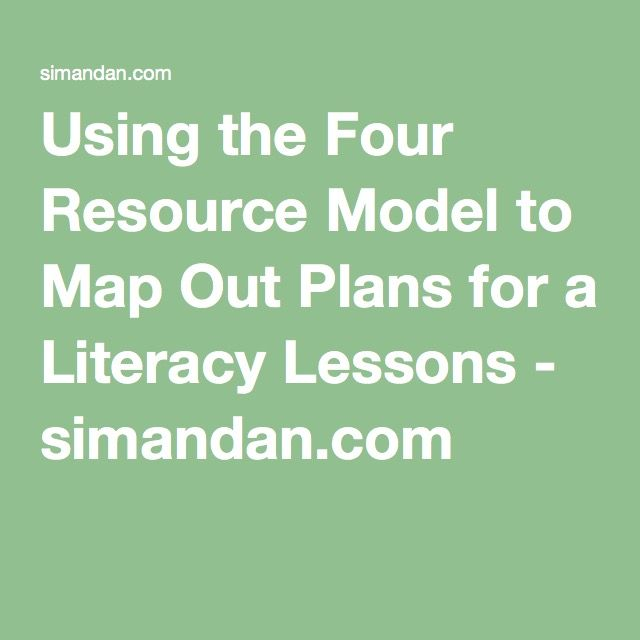 This resource links to a very detailed post explaining how to use the Four Resource Model to map out plans for my literacy lessons.