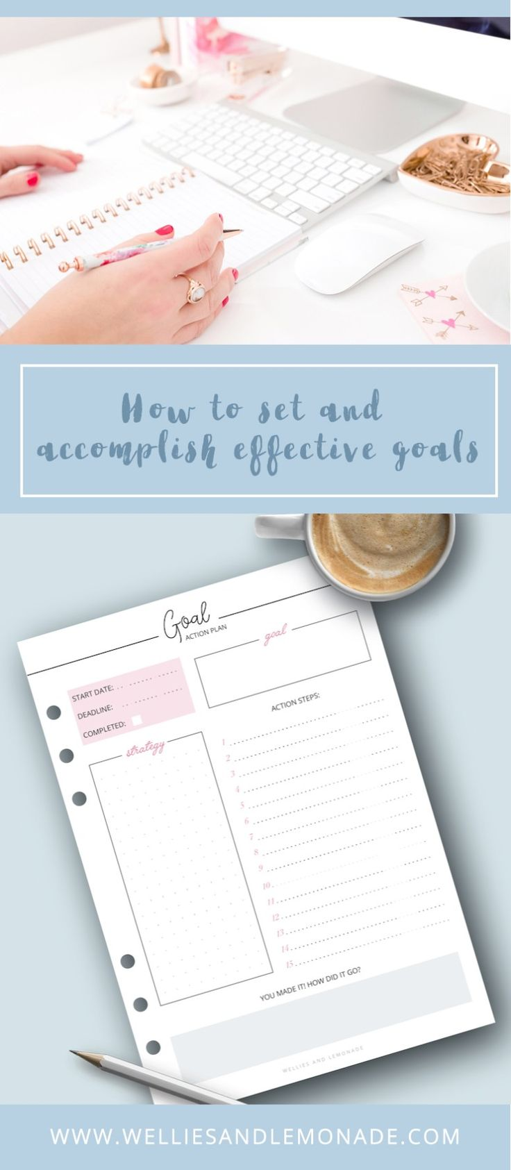 How to Set and Accomplish Goals + Free Printable {subscription required}