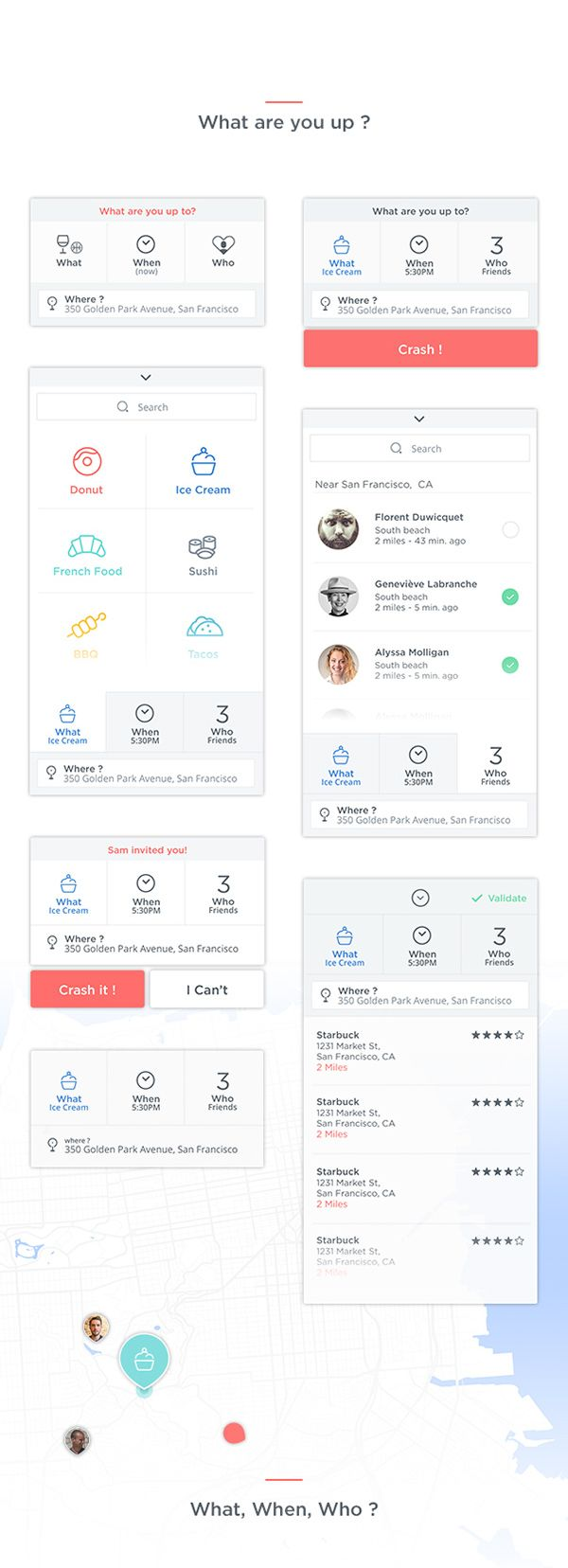 Crash App on Behance