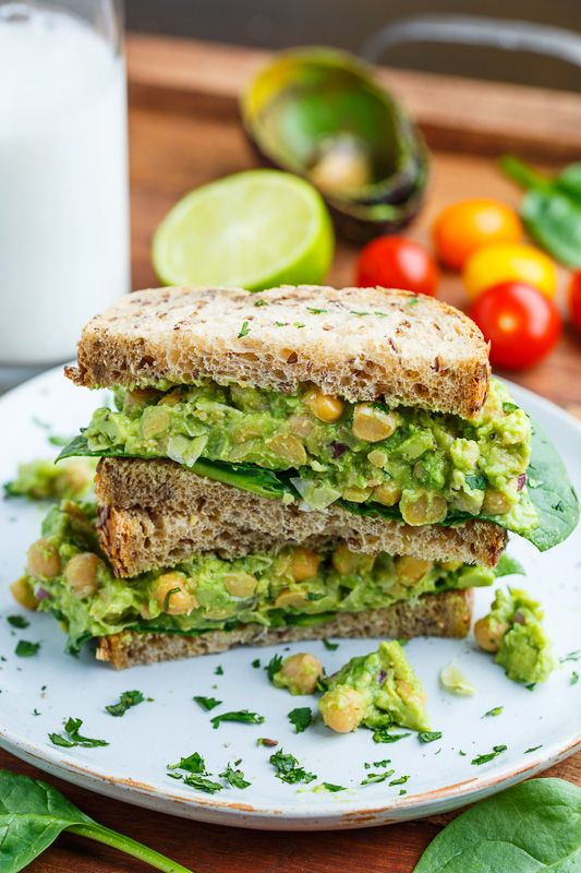 smashed chickpea and avocado sandwich healthy sandwiches alkaline ...