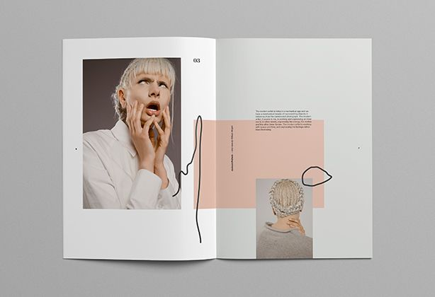 An editorial look book design for a fashion project inspired by futurist and…