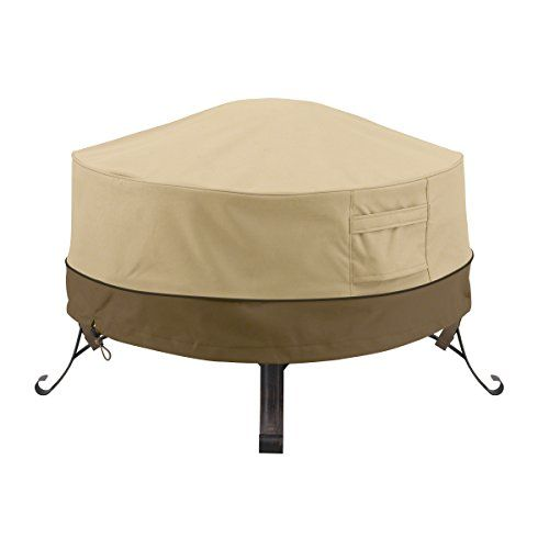 Classic Accessories 55-489-011501-00 Veranda Round Fire Pit/Table Cover 36-Inch