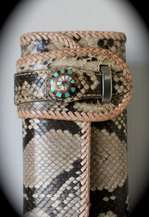 Leather Wallet Genuine Exotic Python Snake by Mygoth (GSLW002)