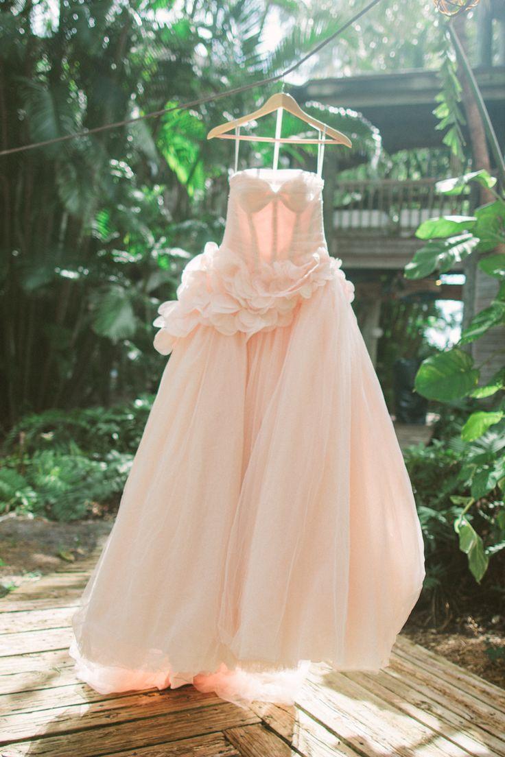 Vera wang blush colored wedding dress bridal gowns for Pink wedding dress vera wang
