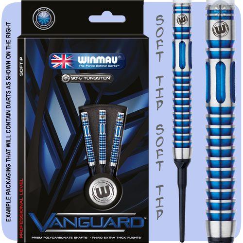 Winmau Vanguard Darts - Soft Tip Tungsten - Titanium Nitride - S1 - Precision Grip - Blue - 18g ST - http://www.dartscorner.co.uk/product_info.php?products_id=19463