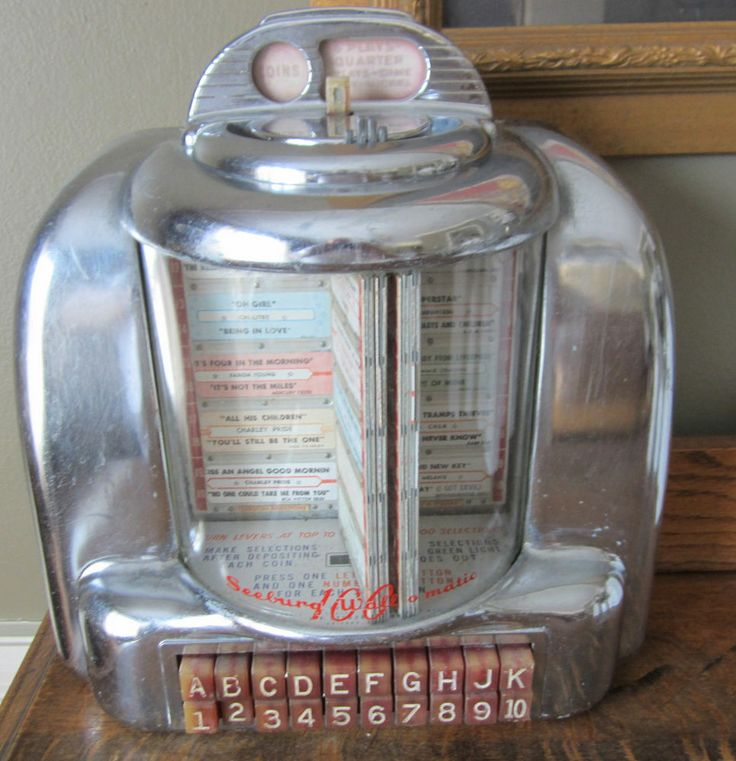 Vintage Seeburg 100 Wall O Matic 3w 1 Diner Booth Jukebox