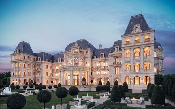 French chateau mega mansion fire posted by kenny forder for French chateau exterior design