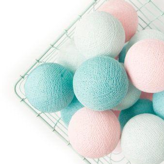 Cotton Ball Lights slinger lichtroze-mint M - Cotton Ball Lights - Lichtslingers