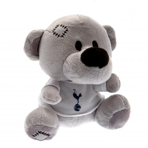 Plush Tottenham Hotspur teddy bear wearing a Spurs t-shirt. Soft to touch with stitched features. Official Tottenham Hotspur merchandise. FREE DELIVERY