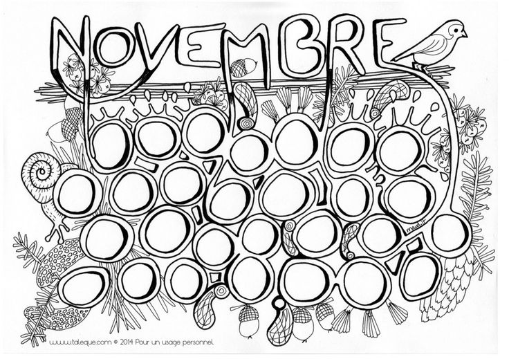 134 best coloriage mois de l 39 annee images on pinterest - Coloriage novembre ...