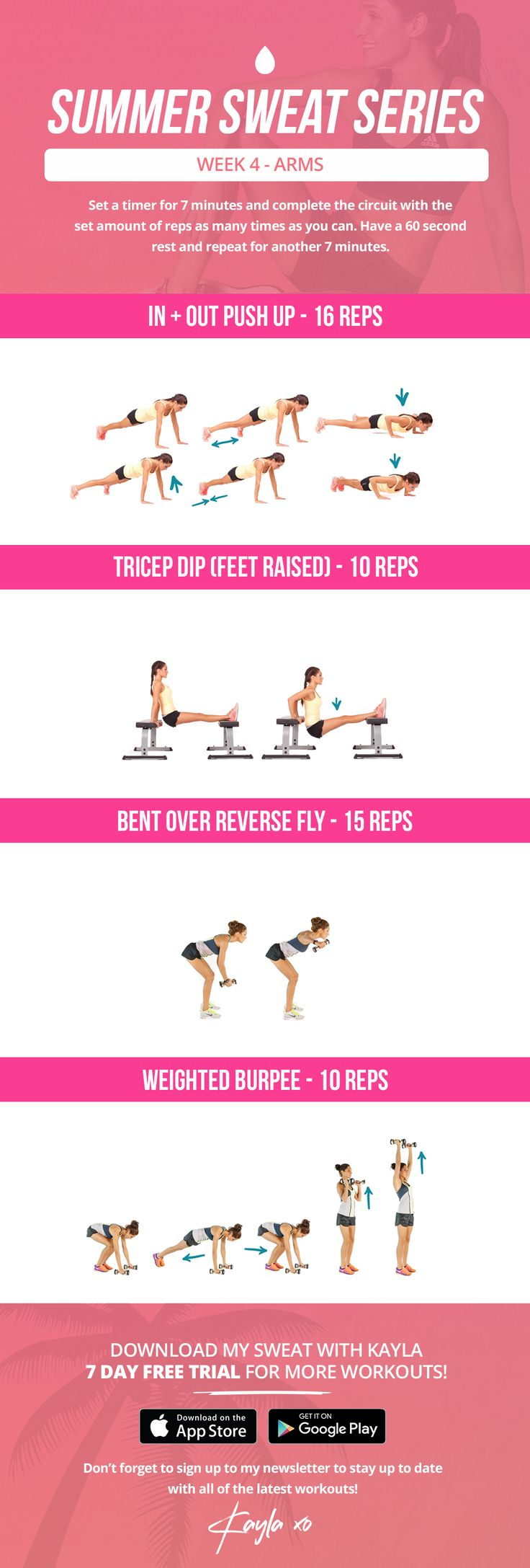 115 best health fitness images on pinterest kayla workout summer sweat series wednesday week 4 fandeluxe Choice Image