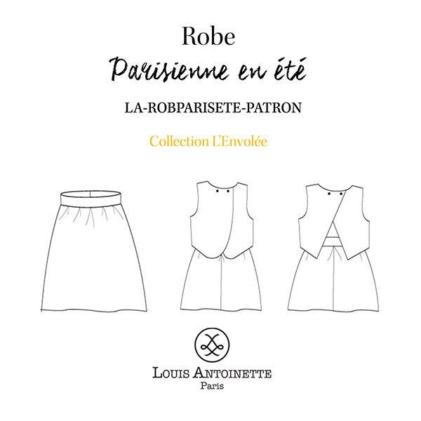 """Je suis LAParisienne en été, la déclinaison estivale de la robe #LAParisienne ! Pour cette version nous avons décidé de vous gâter : ce patron est constitué d'une jupe taille haute à plus et de 2 versions de top dos-nus entièrement doublés. DANS LA POCHETTE PATRON, VOUS TROUVEREZ: • le patron en couleur, de la taille 34 à la taille 46, avec les valeurs de couture incluses (1cm) • le carnet d'accompagnement pour guider chaque étape de la réalisation • la griffe """"Créé par moi""""..."""