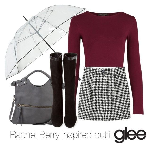 """Rachel Berry inspired outfit/Glee"" by tvdsarahmichele ❤ liked on Polyvore featuring mode, Fulton, Monki, Pietro Alessandro en Yves Saint Laurent"