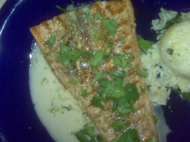Grilled Salmon With Lime Butter Sauce Recipe - Food.com - 354143