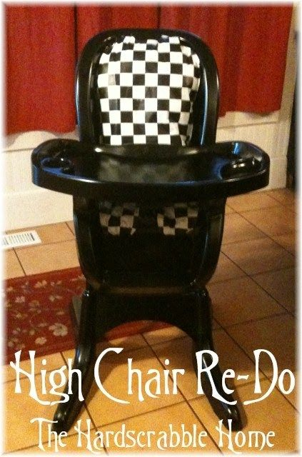 High Chair Re-Do by the Hardscrabble Home