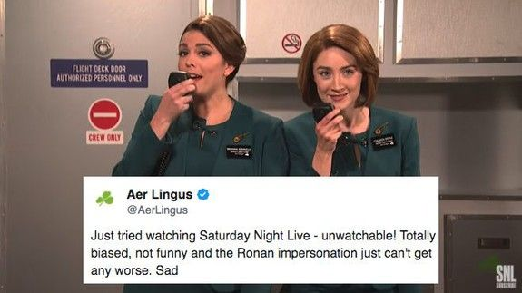 Irish people are not impressed by SNLs Aer Lingus sketch