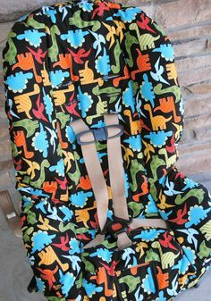 Toddler Car Seat Cover Pattern Tutorial ~ Need to do this for C's car seat. Maybe for B's booster too.