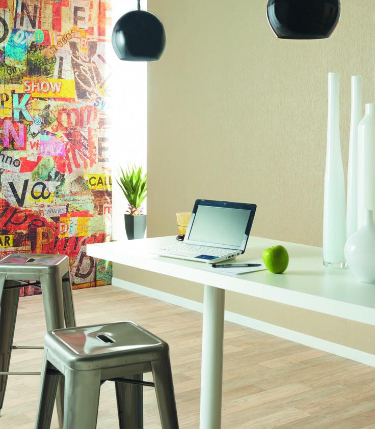 Collection : DUO / Ambiance, Fibre & Graffiti #papierpeint #decoration #interieur #Caselio  www.caselio.fr
