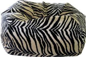 Gold Medal 30010565932 Medium Suede Beanbag, Tween Size, Bengali Tiger Print