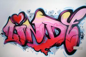 graffiti name Lindy by GraffitiArtist82