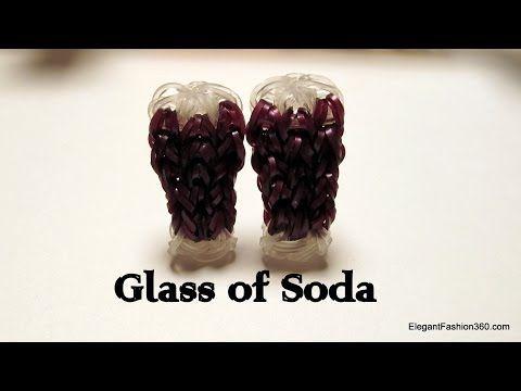 Soda Glass Charm - How to Rainbow Loom - Food Series - YouTube