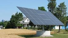 A solar panel in operation on a farm in Southwestern Ontario. (Randall Moore /The Globe and Mail)